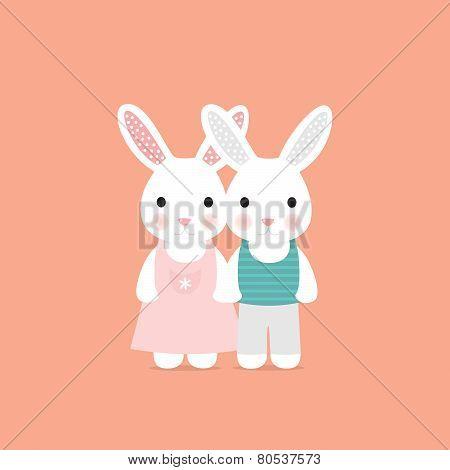 Cute rabbit love card
