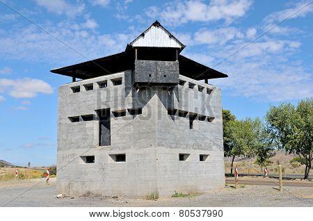 Blockhouse North Of Laingsburg At The Geelbek River Railway Bridge