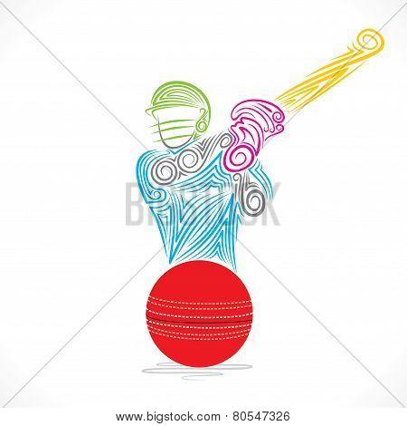 cricket player banner design