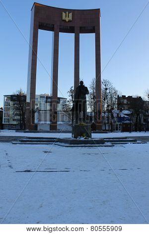 Monument to Stepan Bandera in Lviv