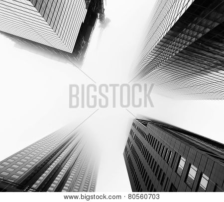 Skyscrapers During Low-lying Clouds And Fog In Toronto