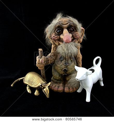 Troll with Cow and Armadillo
