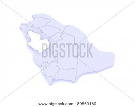 Map of El Madina. Saudi Arabia. 3d