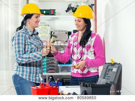 Craftswomen in the workshop