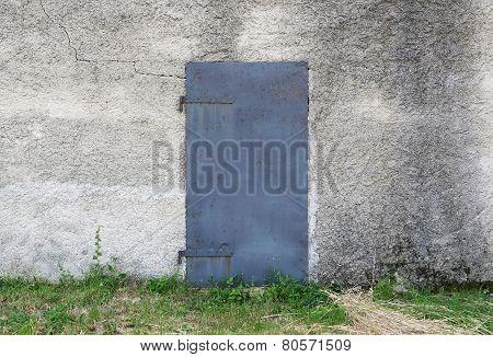 Old Metal Door On Facade