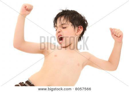 Boy In Swim Suit