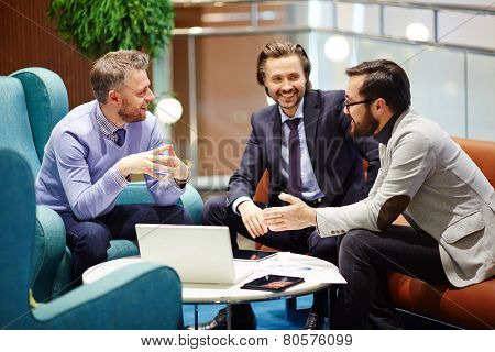 Business companions negotiating