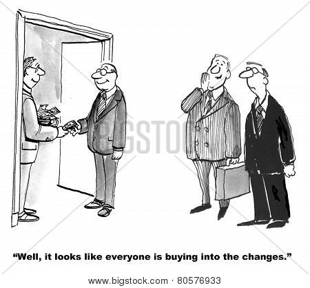 Literally Buying into Change