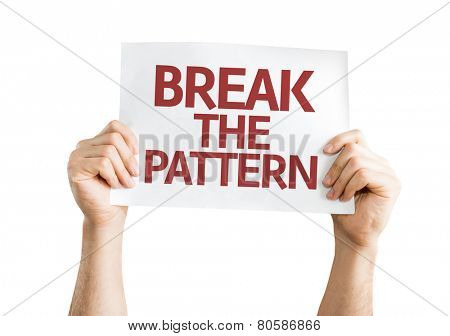 Break the Pattern card isolated on white background