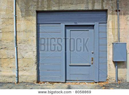 Blue Industrial Door