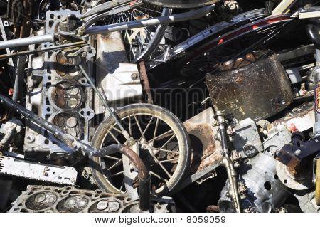 Aluminum Scrap Metal Pile