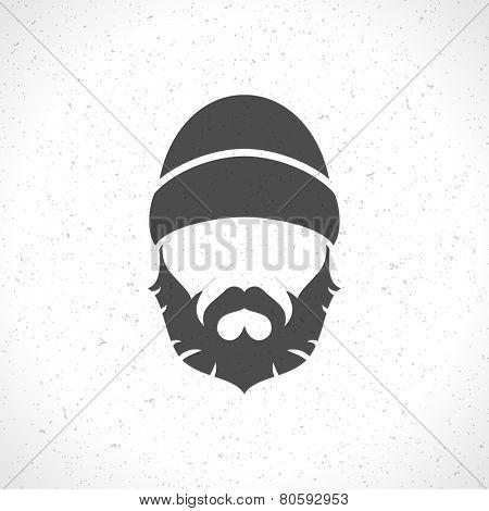 Lumberjack hipster style silhouette vintage vector design element illustration