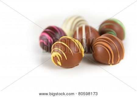 Chocolate Truffles Isolated