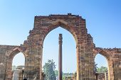 The Iron Pillar located in Delhi, India, is a 7 m (23 ft) column in the Qutb complex, notable for the rust-resistant composition of the metals used in its construction. poster