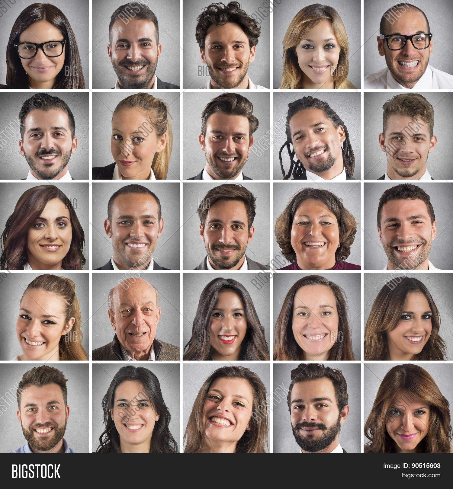 smiling faces collage image photo free trial bigstock