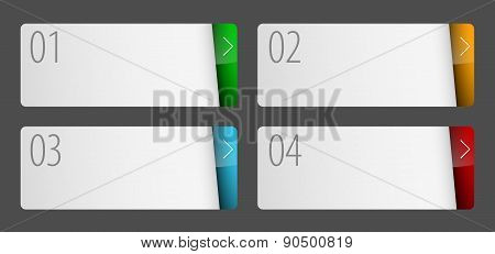 Labels With Number Of Option Flat Design