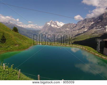 The Wetterhorn And Lake