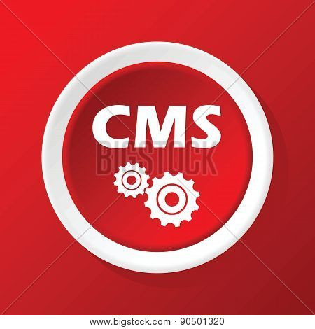 CMS icon on red