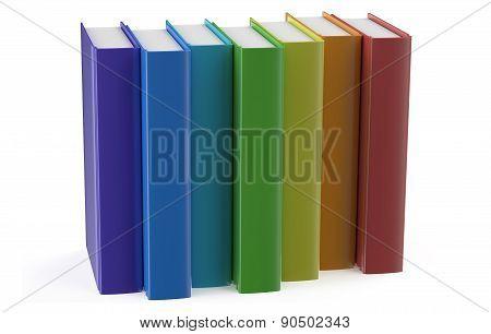 Multicolored Books In Row