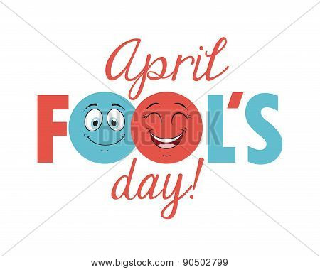 fools day design, vector illustration eps10 graphic poster