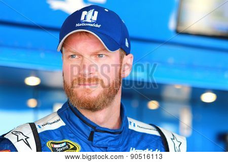 Richmond, VA - Apr 24, 2015:  Dale Earnhardt Jr. (88) prepares for practice for the Toyota Owners 400 race at the Richmond International Raceway in Richmond, VA.
