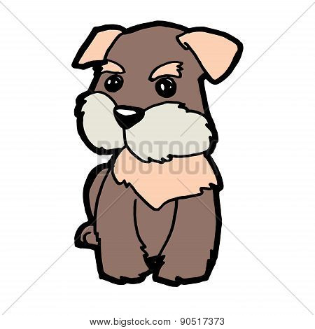 brown dog vector
