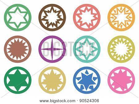 Circle Star Symbols