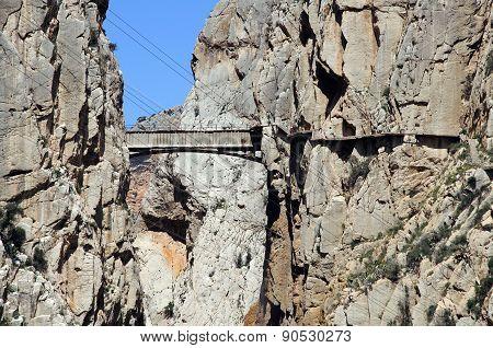 El Chorro Gorge and bridge.