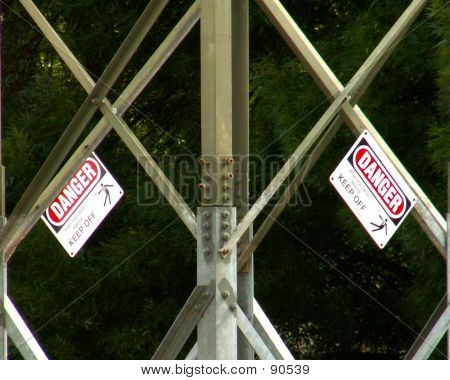 Warnings On Transmission Towers