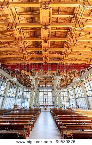 Terras de Bouro, Portugal. April 06, 2015: Crypt of the Sao Bento da Porta Aberta Sanctuary. 2nd most visited in Portugal. Pope Francis promoted it to Basilica in the 400th anniversary in March, 21st