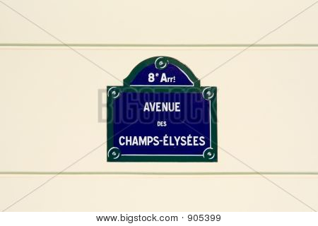 Champs-Elysees Street Plate