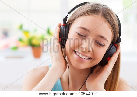 Day Dreaming With Her Favorite Music.