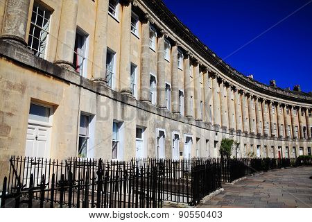 Royal Crescent in Bath, Somerset