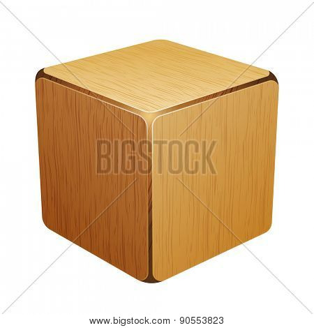 wooden cube. box 10eps