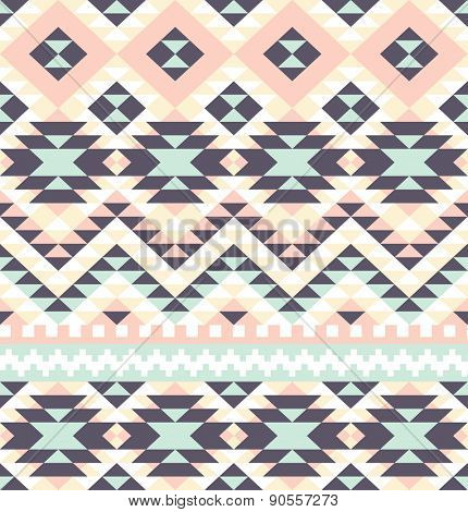 seamless pattern with ethnic aztec ornament