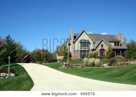 Luxurious Executive House With Blue Sky