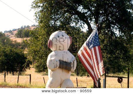Memorial Day Snowman