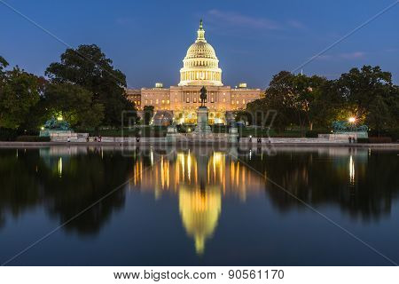 Us Capital Building In Washington Dc, Usa