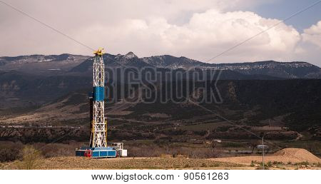 Oil Derrick Crude Pump Industrial Equipment Colorado Rocky Mountains
