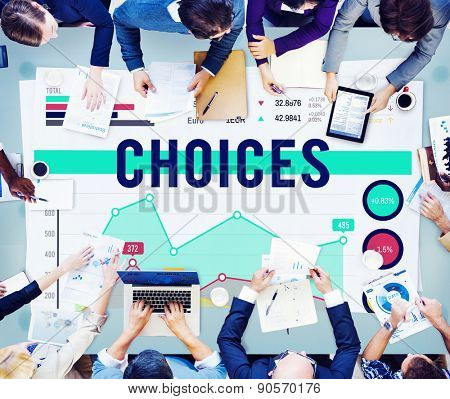 Choice Choices Decision Direction Marketing Concept poster