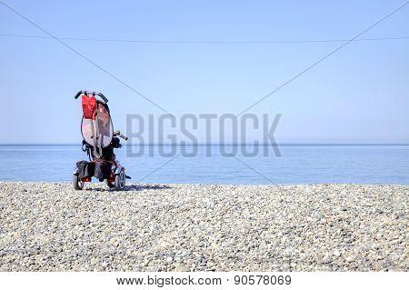 Carriage On A Beach