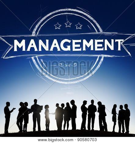 Management Manager Trainer Director Role Model Concept poster