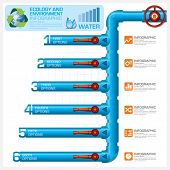 Water Pipeline Ecology And Environment Business Infographic Vector Design Template poster