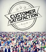Customer Satisfaction Support Service Quality Concept poster