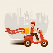 food delivery design, vector illustration eps10 graphic poster
