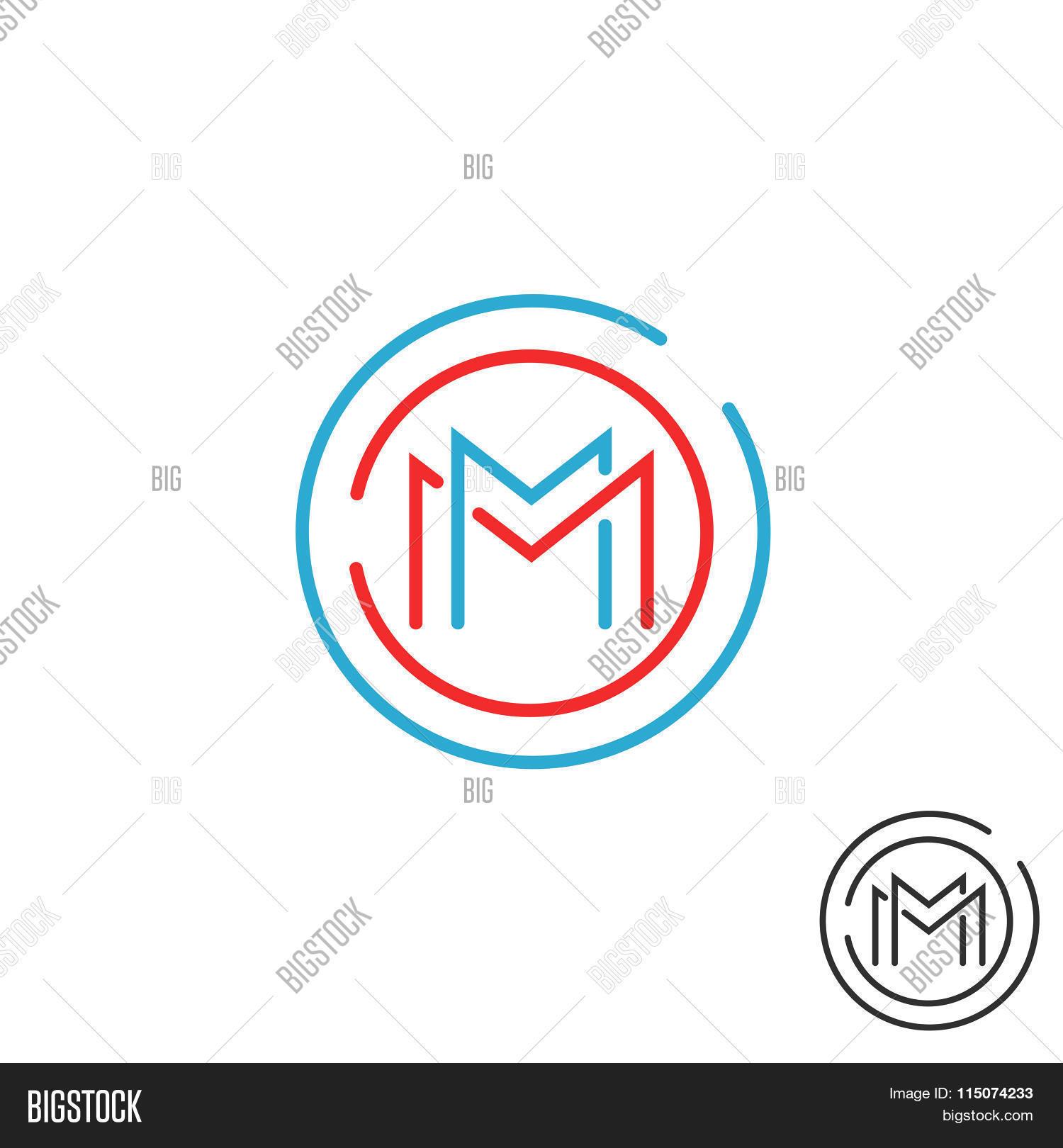 Letter M Logo Circle Vector Photo Free Trial Bigstock