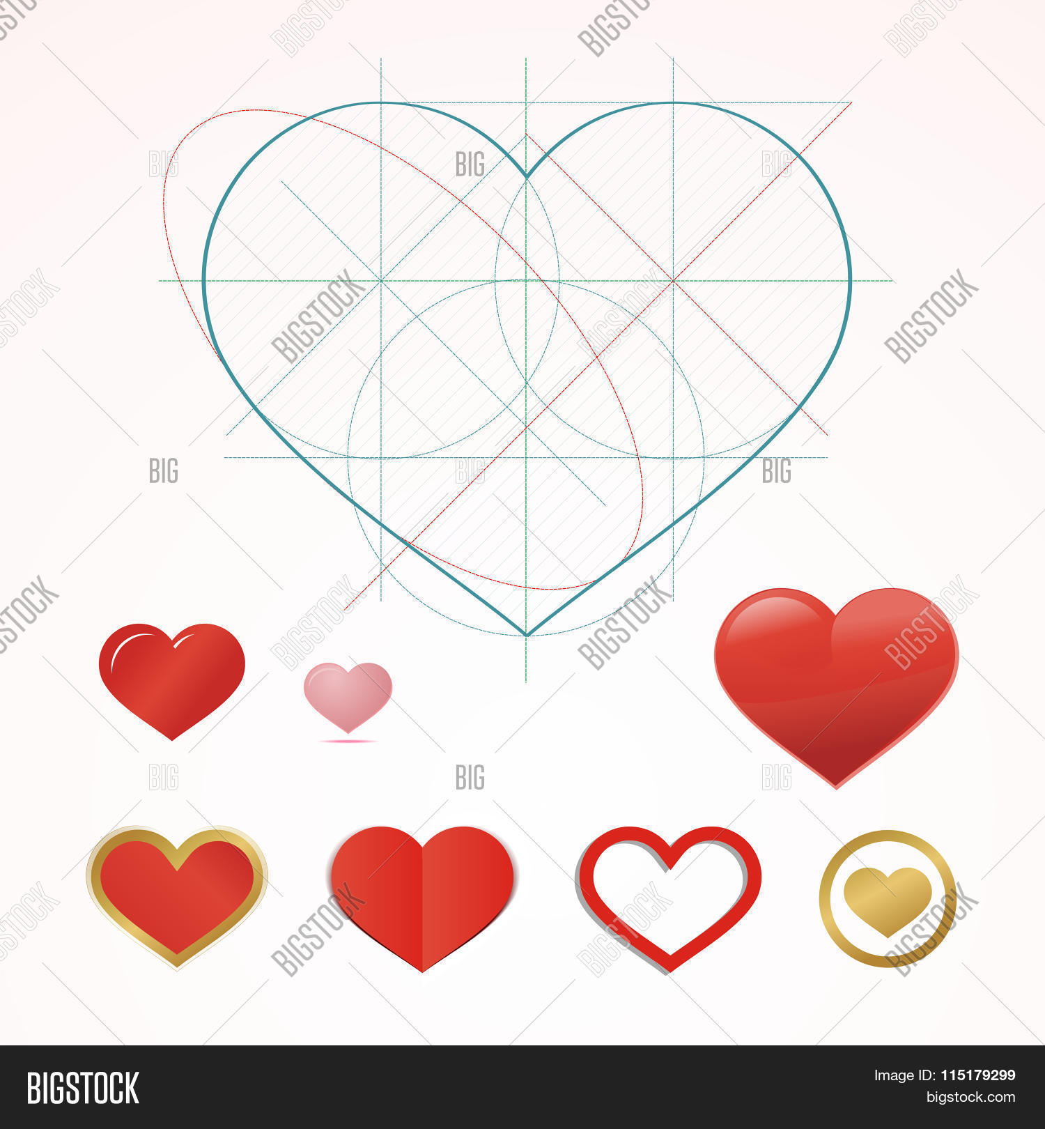 Heart symbol dimension lines vector photo bigstock heart symbol with dimension lines element of blueprint drawing in shape of heart qualitative buycottarizona Image collections