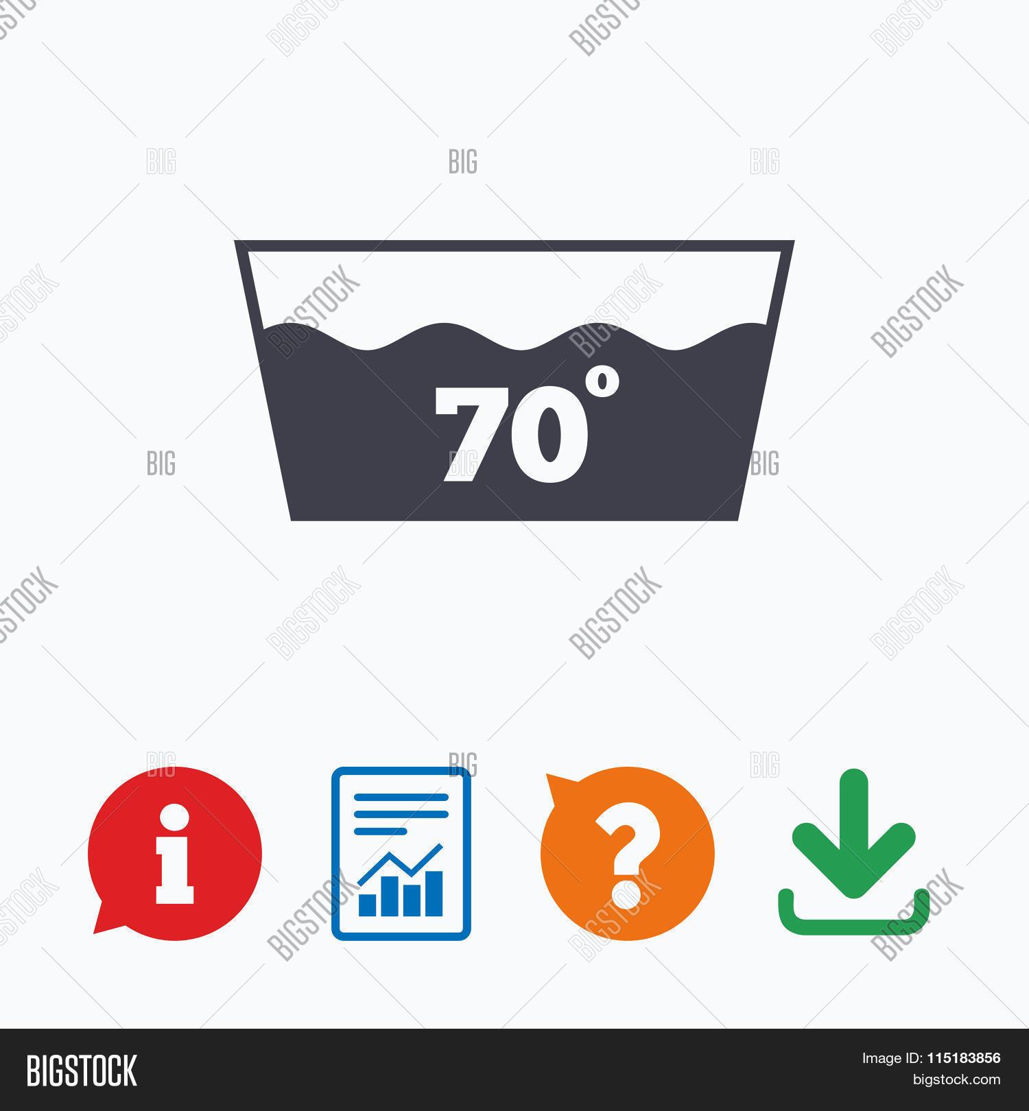 Wash Icon Machine Washable 70 Vector Photo Bigstock