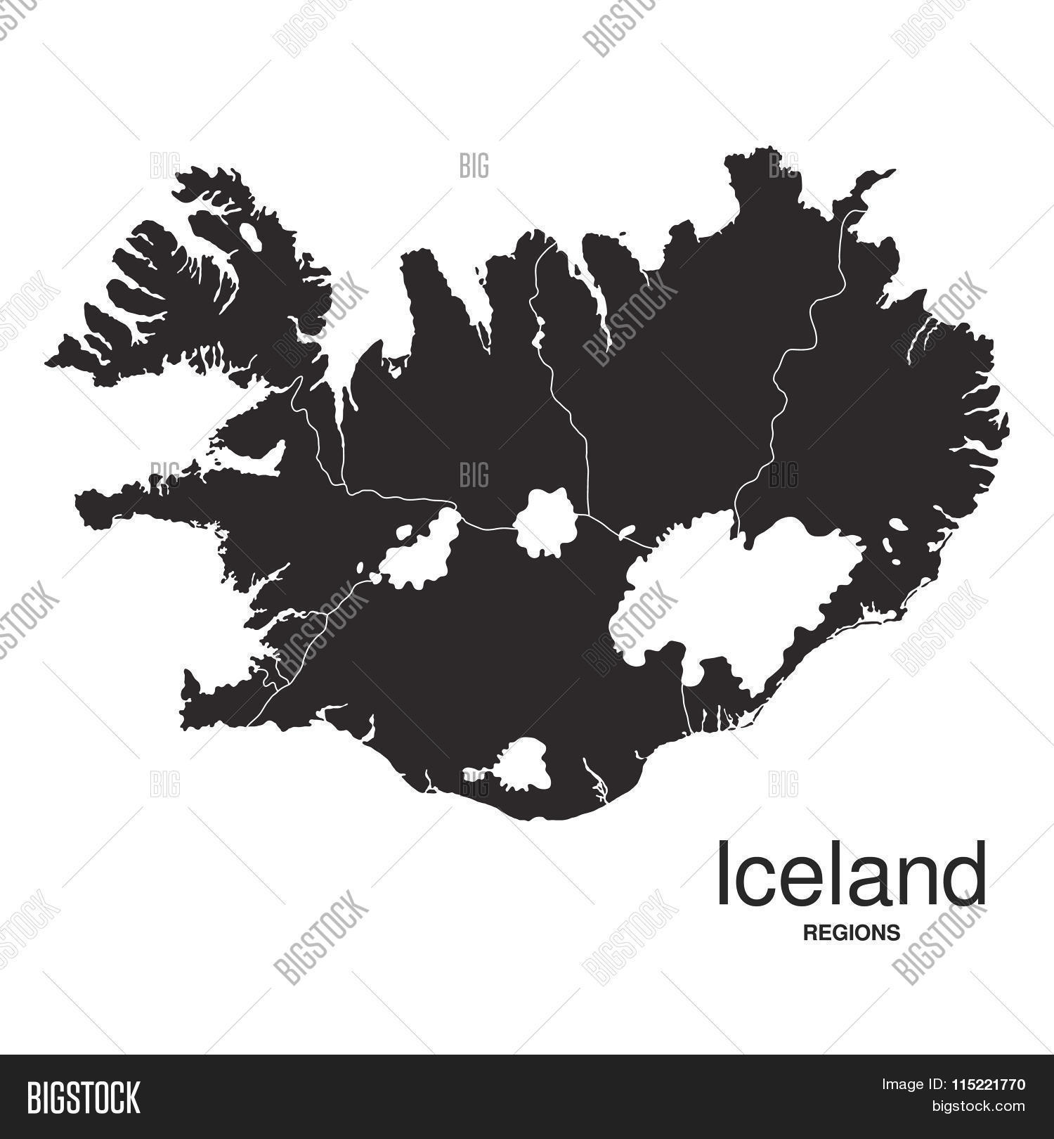 Iceland Silhouette Vector & Photo (Free Trial) | Bigstock
