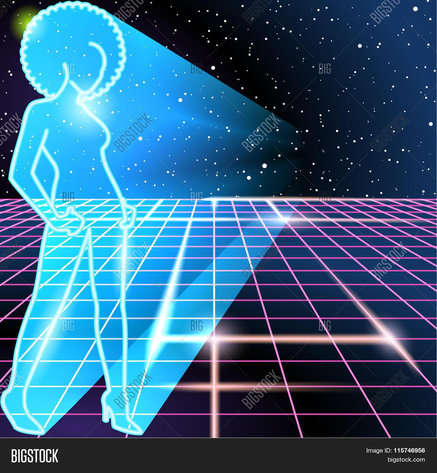 80s Background Neon Vector & Photo (Free Trial) | Bigstock